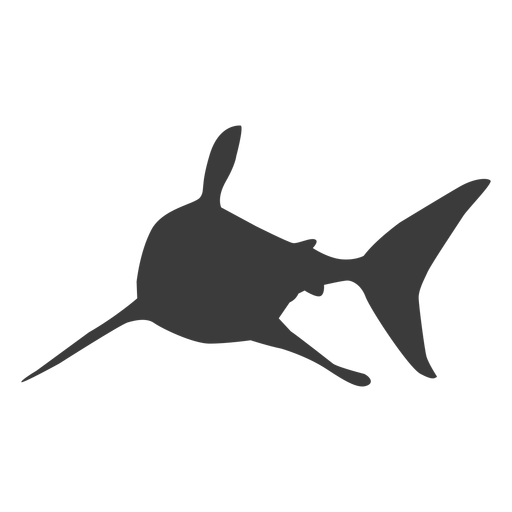 Shark fin tail silhouette Transparent PNG