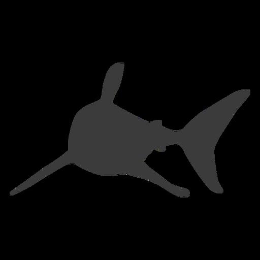 Silueta de cola de aleta de tiburón Transparent PNG