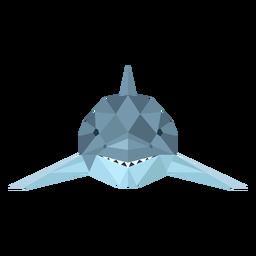 Dedo de cauda de barbatana de tubarão baixo poli