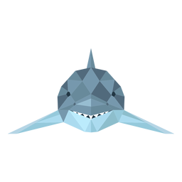 Shark fin tail tooth low poly