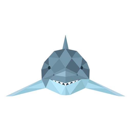 Aleta de tiburón diente cola baja poli Transparent PNG