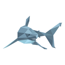 Barbatana de tubarão com baixo poli