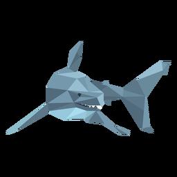 Diente de aleta de tiburón bajo poli