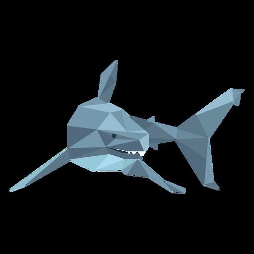 Diente de aleta de tiburón bajo poli Transparent PNG