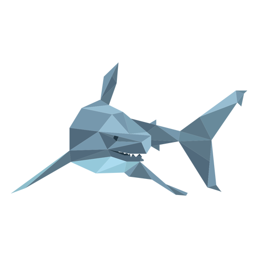 Shark fin tooth low poly
