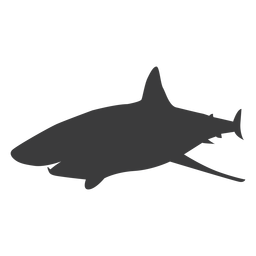 Shark tail fin silhouette