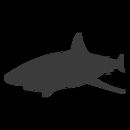 Silueta de aleta cola de tiburón