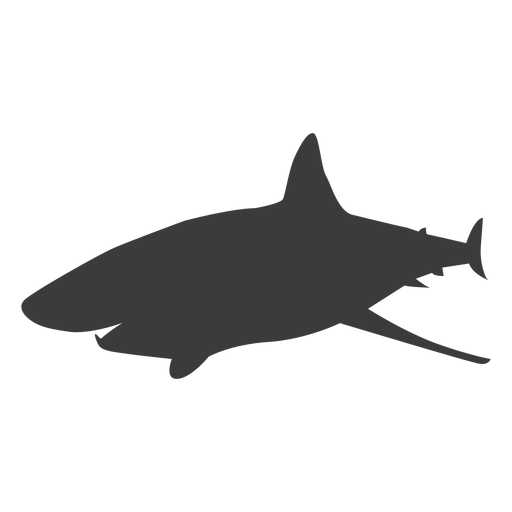 Shark tail fin silhouette Transparent PNG