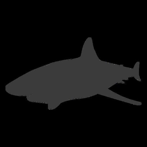 Silueta de aleta cola de tiburón Transparent PNG