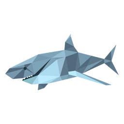 Shark tail fin tooth low poly