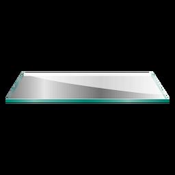 Ilustração de prateleira de vidro