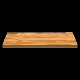 Estante de madera plano