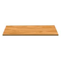 Shelf wood flat