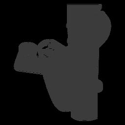Faultier-Niederlassungs-Baumklauenschattenbild