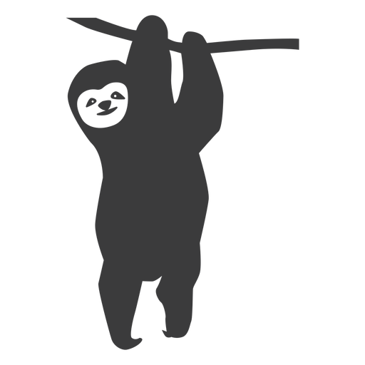 Sloth branch tree silhouette Transparent PNG