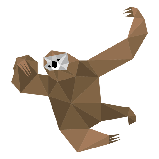 Sloth claw low poly Transparent PNG