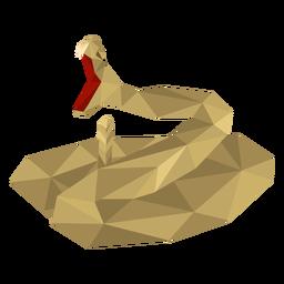 Diente de serpiente boca retorcido bajo poli