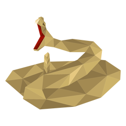 Snake mouth tooth twisting low poly