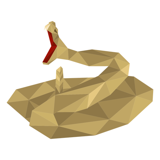 Snake mouth tooth twisting low poly Transparent PNG