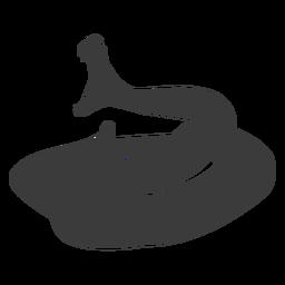 Diente boca de serpiente torciendo silueta