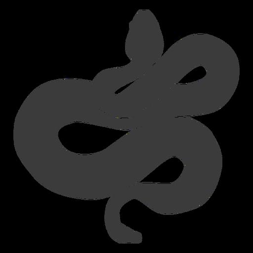 Silhueta de torção de cauda de cobra Transparent PNG