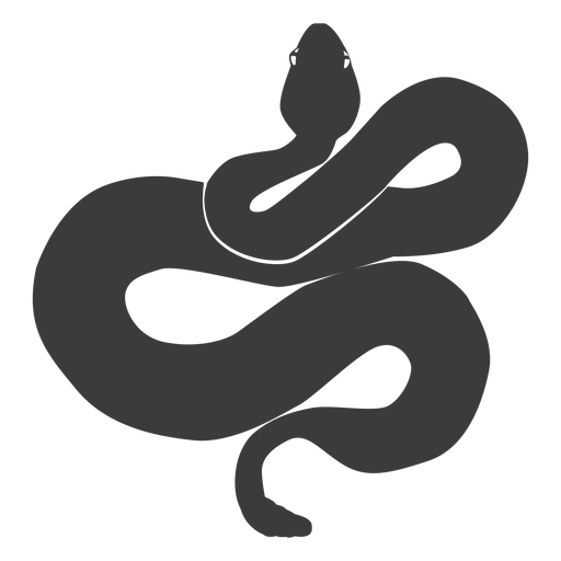 Snake tail twisting silhouette Transparent PNG