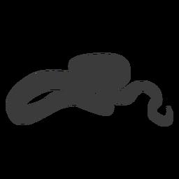 Serpiente torciendo silueta