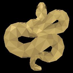 Cola de serpiente retorcida low poly
