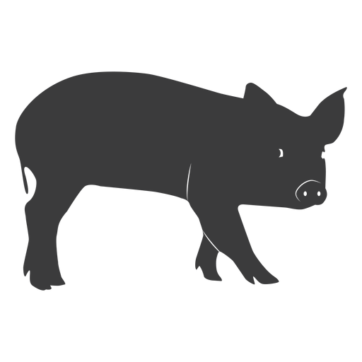Snout pig ear hoof silhouette Transparent PNG