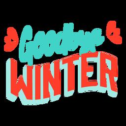Distintivo de inverno Primavera adeus