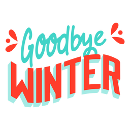 Spring  Goodbye winter badge