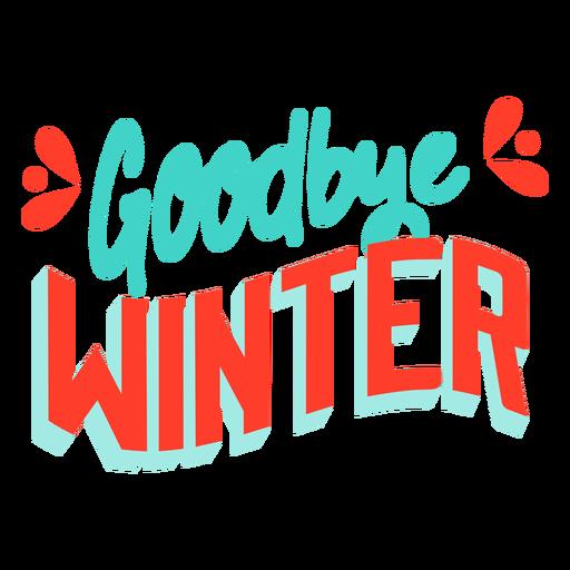 Distintivo de inverno Primavera adeus Transparent PNG