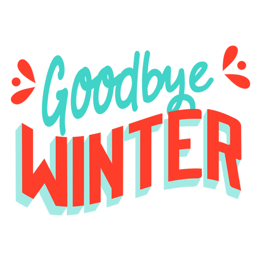 Spring  Goodbye winter badge Transparent PNG