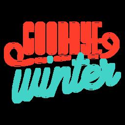 Adeus Primavera tarja de inverno distintivo
