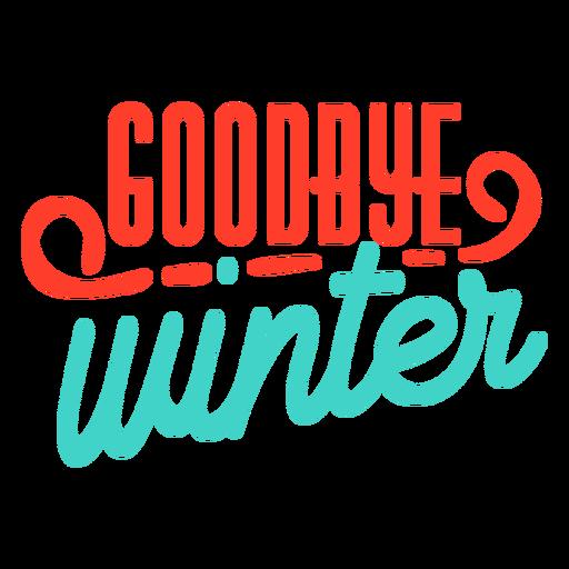 Frühling Auf Wiedersehen Winterstreifenabzeichen Transparent PNG