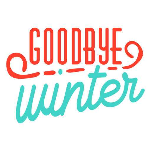 Insignia de la raya del invierno adiós de la primavera Transparent PNG