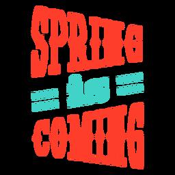 Primavera Primavera está chegando crachá tarja