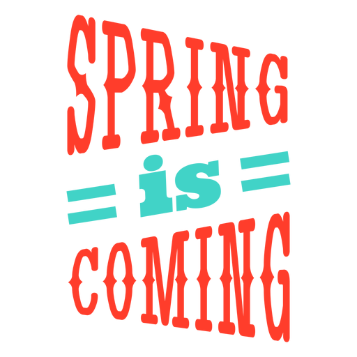 Spring  Spring is coming stripe badge Transparent PNG
