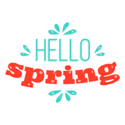 Spring hello spring badge