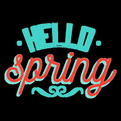 Spring hello spring vignette badge Transparent PNG