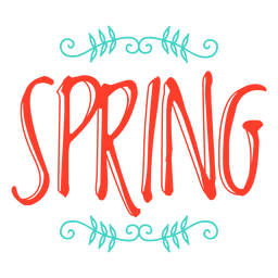 Crachá de adesivo de monograma de primavera