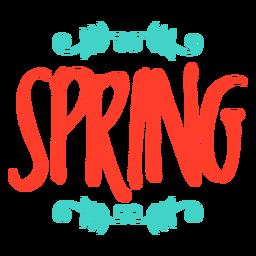 Insignia de la etiqueta engomada del monograma primavera