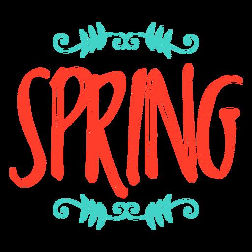 Crachá de adesivo de monograma de primavera Transparent PNG
