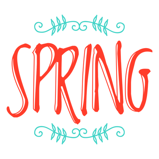 Spring monogram sticker badge Transparent PNG