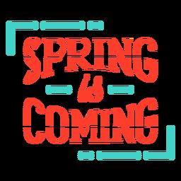 Primavera primavera está chegando crachá