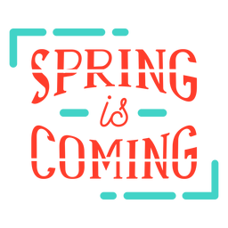 Spring spring is coming badge