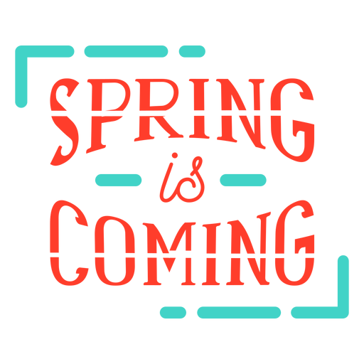 Spring spring is coming badge Transparent PNG