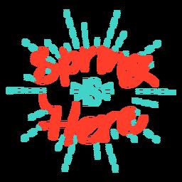 A primavera é aqui distintivo