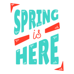 Primavera primavera es aquí etiqueta de la etiqueta