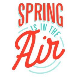 Spring spring is in the air badge
